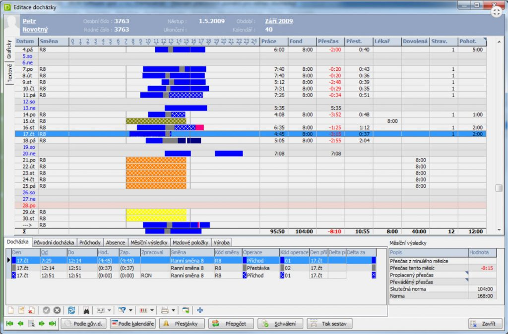 docházkový software